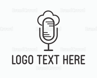 Radio - Cloud Microphone logo design