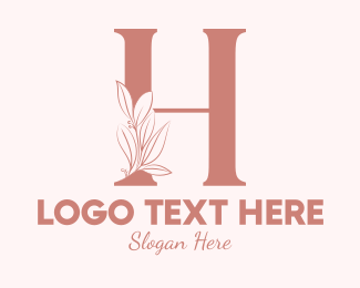 """Elegant Leaves Letter H"" by brandcrowd"