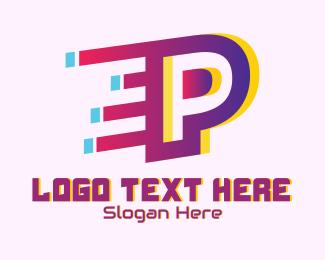Animation - Speedy Letter P Motion logo design