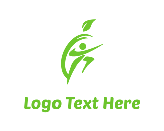 Sporty - Apple & Fitness logo design