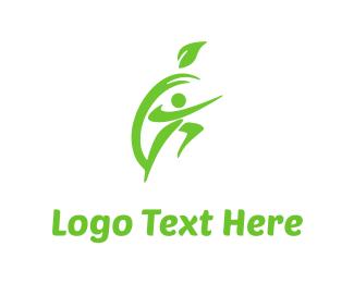 Pear - Apple & Fitness logo design