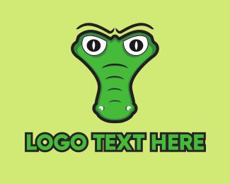 Funny - Crocodile Head logo design