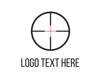 Rifle - Shooting Target logo design