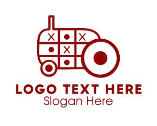 Farmers Market - Tractor Toy logo design