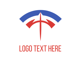 Wifi - Spear & Wifi logo design