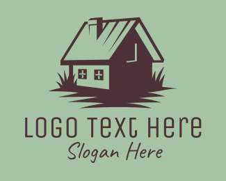 Dairy Farmer - Vintage Chimney Cabin logo design