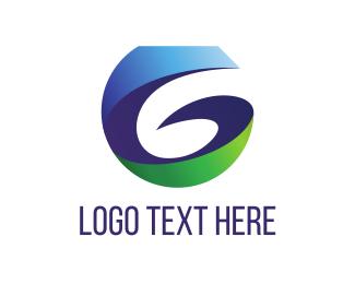 Spin - Blue Letter G logo design