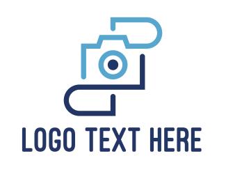 Monogram - Blue Camera Monogram logo design