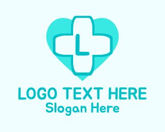 """Mint Health Cross Lettermark"" by BrandCrowd"