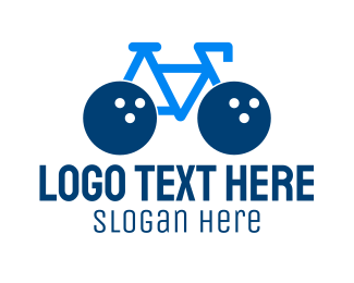 Mtb - Bowling Bike logo design