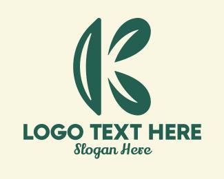 All Natural - Natural Letter K logo design