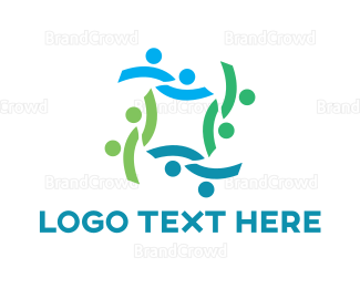 Crowd - Abstract People Crowd logo design