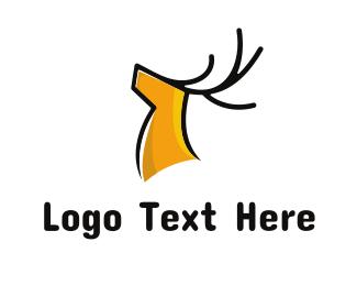 Vector - Gentle Yellow Deer logo design