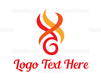 Activity - Abstract Flame Outline logo design