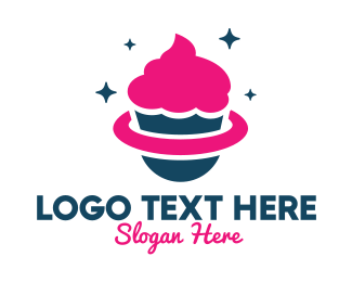 Treat - Pink Cupcake Planet logo design