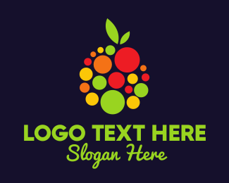 Vegan Food - Fruit Juice logo design