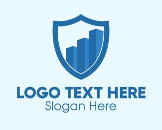 Graph - Security Shield Graph logo design