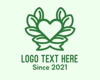 Apple Tree - Organic Heart Plant logo design