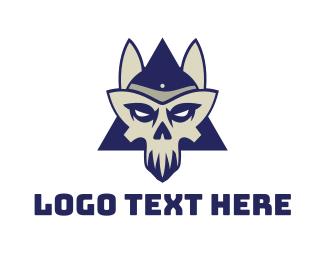 Crypt - Sphynx Skull logo design