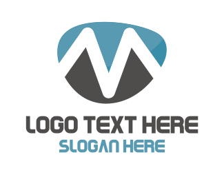 Glacier - Mountain M logo design