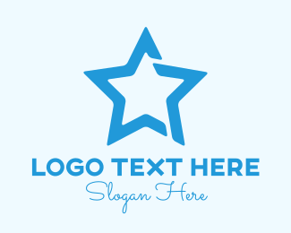 Show Business - Blue Superstar logo design