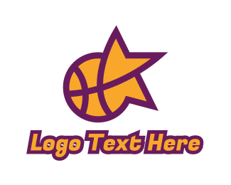 Play Off - Star Basketball Sports logo design