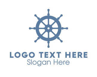 Ship Wheel Helm Logo