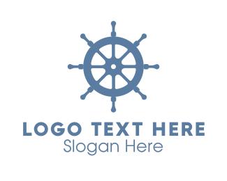 Wheel - Ship Wheel Helm logo design