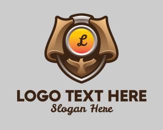 Programmer - Eagle Badge Lettermark logo design