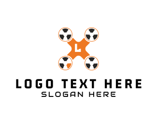 Aerial Photography - Radioactive Drone logo design