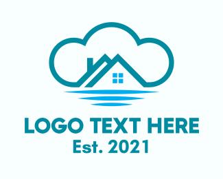 Chimney - Blue Cloud Homes logo design