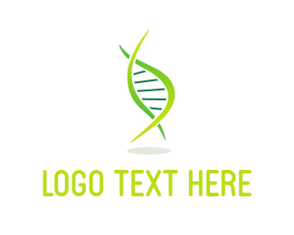 Healthcare - Green DNA logo design