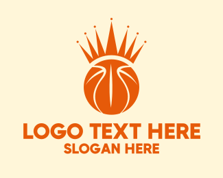 Basketball Court - Basketball Crown  logo design