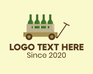 Gin - Wine Wagon Bar logo design