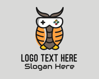Video Game - Owl Video Game Mascot logo design