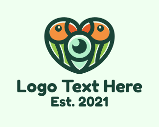 Heart - Wildlife Lovebird Photography logo design