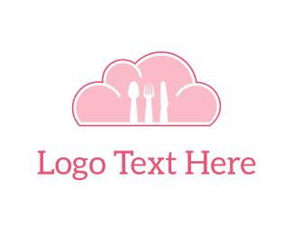 Eating - Sky Cutlery logo design