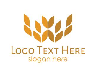 Crop - Wheat Crown logo design