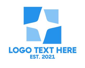 Puzzle - Blue Star Puzzle logo design