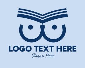 Intelligent - Owl Book Pages logo design
