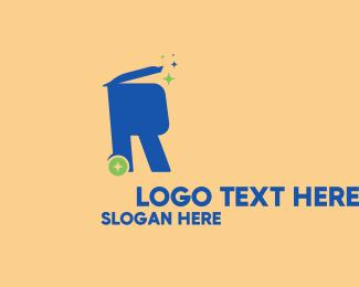 Bin - Recycling Bin Letter R logo design