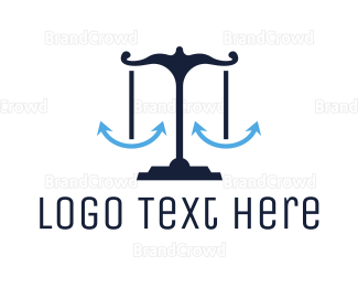 Balance - Blue Anchor Justice logo design