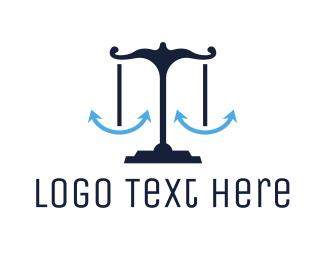 Justice - Blue Anchor Justice logo design