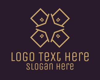 Houses - Real Estate Property Star logo design