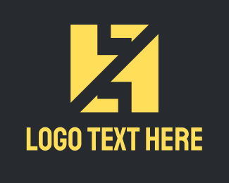 """""""Yellow Abstract Letter HZ"""" by AMCstudio"""