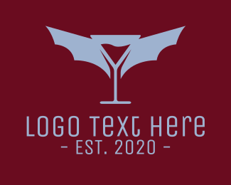 Bordeaux - Martini Bat logo design