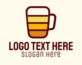 Bourbon - Modern Full Beer Mug logo design
