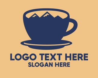 Coffee - Blue Mountain Cup logo design