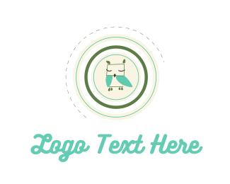 Sleeping - Baby Owl logo design