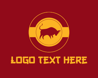 Tradition - Asian Gold Ox  logo design
